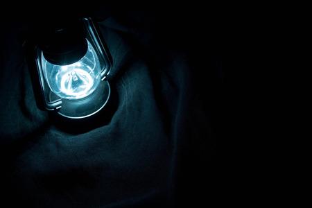 lantern: Lantern shining in the dark Stock Photo