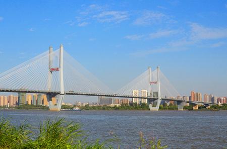 wuhan: Fall of the Wuhan bridge Stock Photo