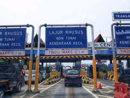 Toll gate in Jakarta