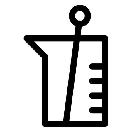 Chemistry Lab Icon, Vector lab flask icon, Chemistry science laboratory outline vector icon, Pharmacy and chemistry, education and science elements and equipment, laboratory, biotechnology concepts.