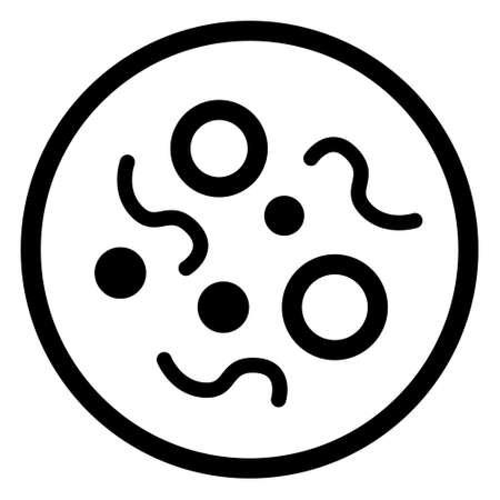 Bacteria icon, Virus icon, Microbe icon