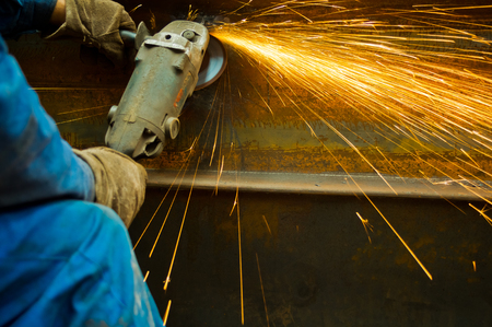 friction: Work when the spark grinding machine