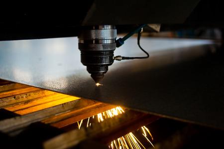 Laser cutting machined parts photo