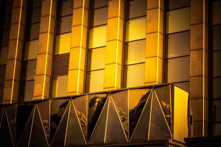 City high-rise building glass curtain wall Banco de Imagens