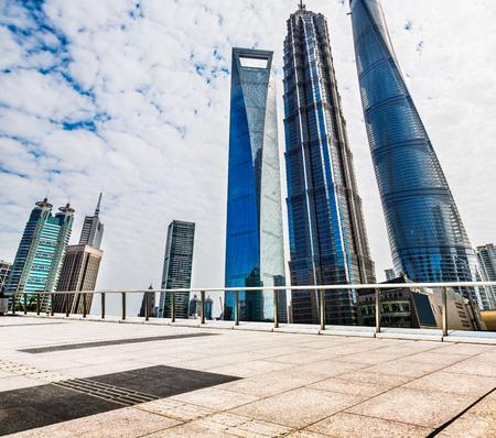 Shanghai Lujiazui cityscape Banco de Imagens