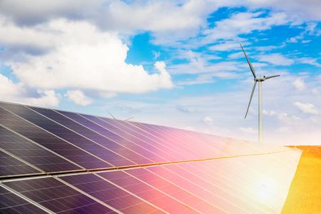 Solar photovoltaic power stations Banco de Imagens - 33403117