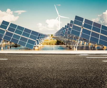 江蘇省の沿岸域で太陽の太陽光発電所