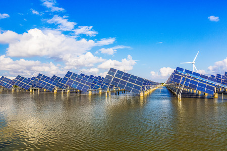 Solar photovoltaic power plant in Jiangsu Coastal Zone photo