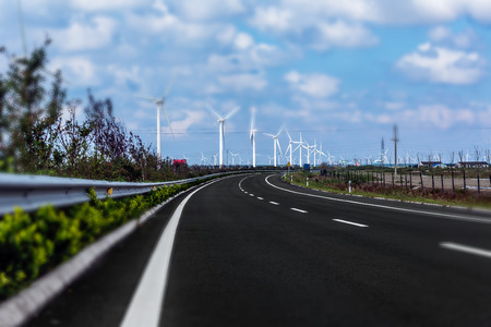 jiangsu: Wind power plant at Jiangsu