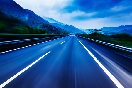range of motion: Mountain Highway Stock Photo