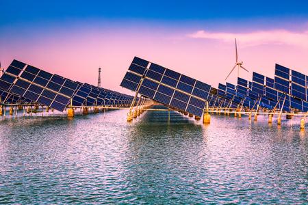 太陽光の利用や風力発電