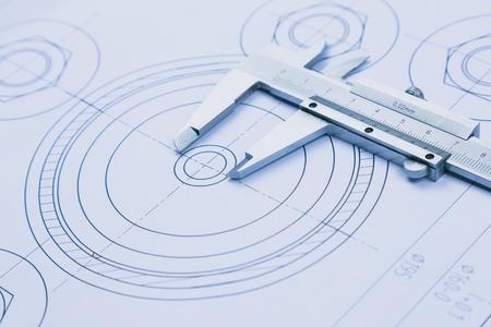 technische tekening en de remklauw met lager