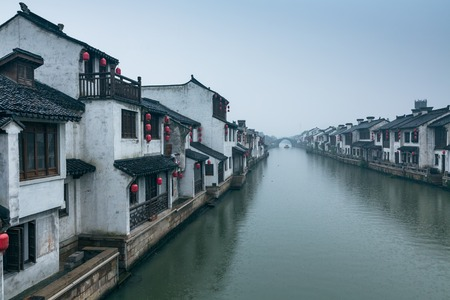 zhouzhuang: Xitang ancient town , Xitang is first batch of Chinese historical and cultural town, located in Zhejiang Province, China. Stock Photo