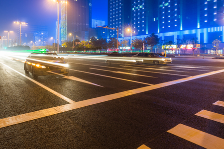 road surface: City building street scene and road surface Editorial
