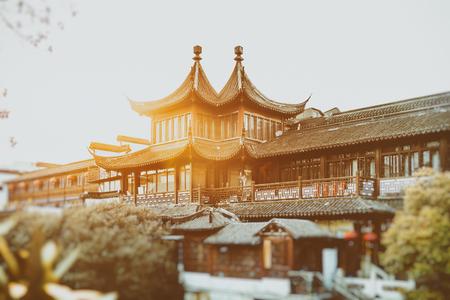 public housing: Nanjing Fuzimiao or Fuzimiao is located in southern Nanjing City on banks of the Qinhuai River. Editorial