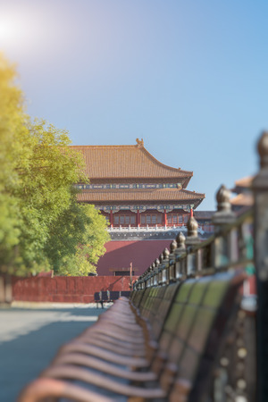the meridian: The Meridian Gate is the southern and largest gate of the Forbidden City in Beijing, China.