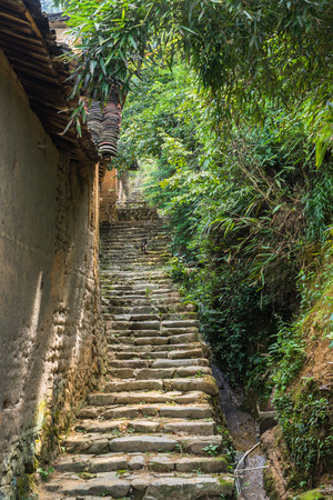 chinese courtyard: farmhouses in ancient village of China.