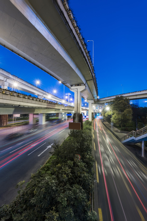 overpass: view of city overpass in China.