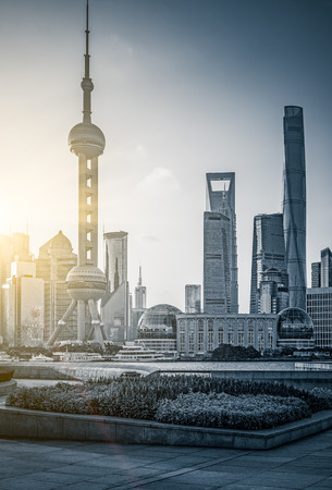 peal: The Oriental Peal Tower In Shanghai,China.