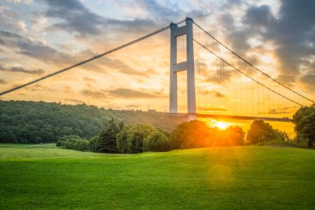 Jiangyin Yangtze Bridge in China.