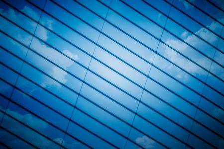 ガラス壁のディテール、パターン化された壁の完全なフレーム ショット。 写真素材