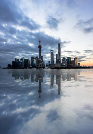 Shanghai skyline in China.