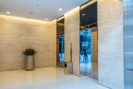 clean office: Elevators in modern building in city of China.