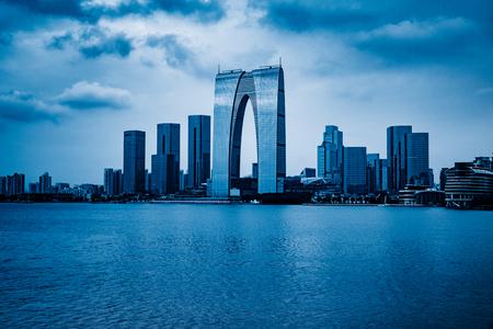 中国蘇州金鶏湖でオリエントのゲート。