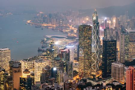 中国、香港のビクトリア港の眺め。 写真素材