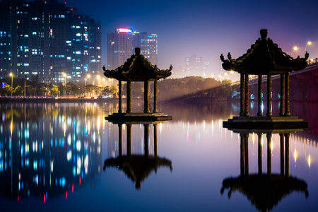 view in Wuxi Lihu natural park of China.
