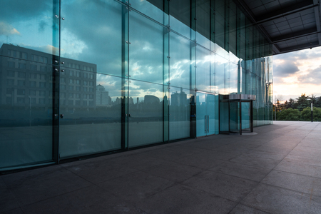 empty space in financial district of Shanghai,China. Banque d'images