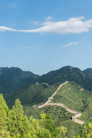 boundary: the Great Wall is generally built along an east-to-west line across the historical northern borders of China.