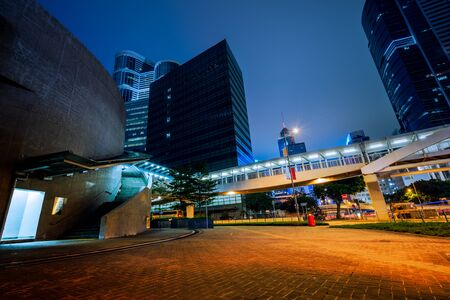 urban traffic with cityscape in Hong Kong,China. Stock Photo - 74695361