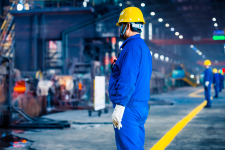 interior view of a steel factory,steel industry in city of China. Stock Photo