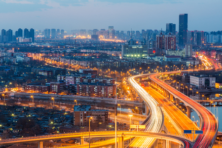 urban traffic view in modern city of China.