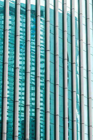 building feature: detail shot of modern architecture facade,business concepts,shot in city of China.