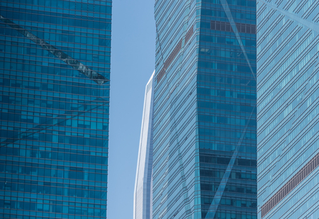 building feature: detail shot of modern architecture facade,business concepts,in city of China.