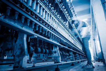 作るための機械紡績工場、産業概念の中に通します。