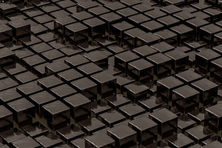 Brown chocolate, 3d rendering Stock Photo