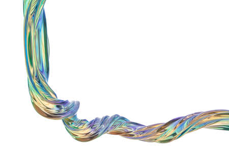 3d rendering abstract transparent colorful silk