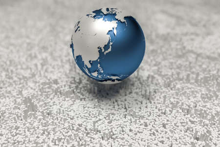 3d rendering, earth graphics and granular background