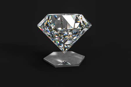 luxury diamond gem, 3d rendering
