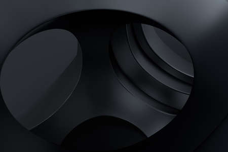 Computer digital drawing, dark background