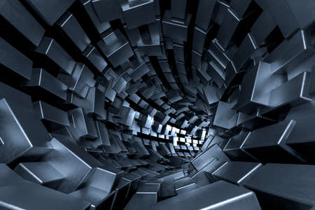 Computer digital drawing, dark background, dark science-fiction background Stockfoto - 119331601