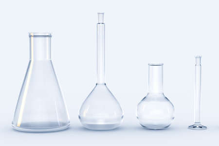 3d rendering, test tube and beaker in the lab, computer digital image Stock Photo