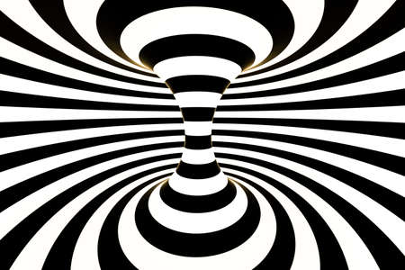 black and white stripe, Repeating lines, 3d rendering, computer digital background