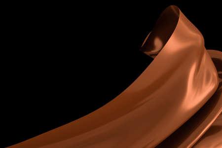 3d rendering, flowing cloth background. Computer digital background.