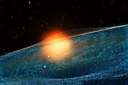 3d rendering, the magnificent spiral nebula. The universe background. Computer digital background.