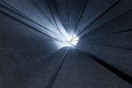 3d rendering, dark science-fiction tunnel, dark background. Computer digital background. Stockfoto - 121929551