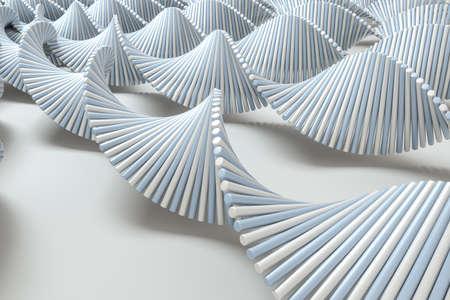 3d rendering, the spiral DNA consist of lines. Computer digital background. 免版税图像